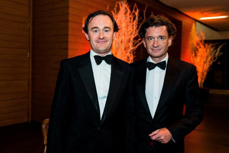 Julien de Beaumarchais e Philippe Sereys de Rothschild, filhos da Baronesa Philippine de Rothschild e co-proprietários do Château Mouton-Rothschild