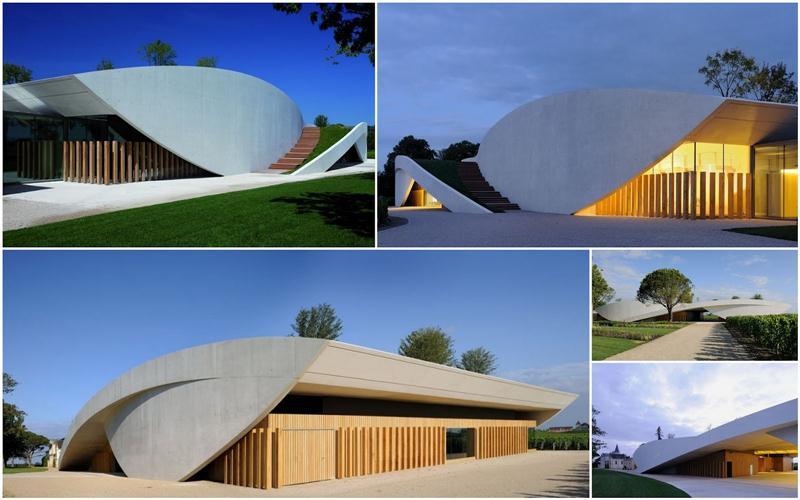 Imagens da nova vinícola do Cheval Blanc, uma das mais modernas do mundo, projeto do arquiteto Christian de Portzamparc
