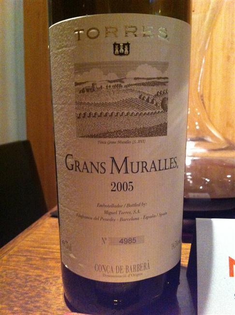 Grans Muralles, vinho fruto das recentes pesquisas sobre antigas cepas do Penedés, foi um dos destaques da degustação