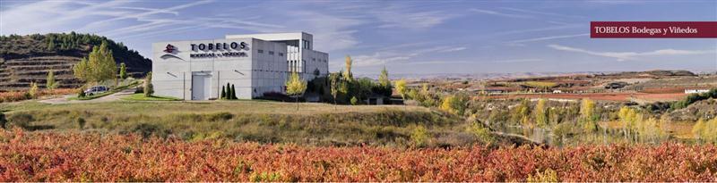Vista das Bodegas Tobelo, novidade na Rioja Alta