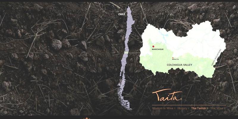 O único terroir de um setor específico do vinhedo Montes em Marchigue é um dos segredos do ícone Taita