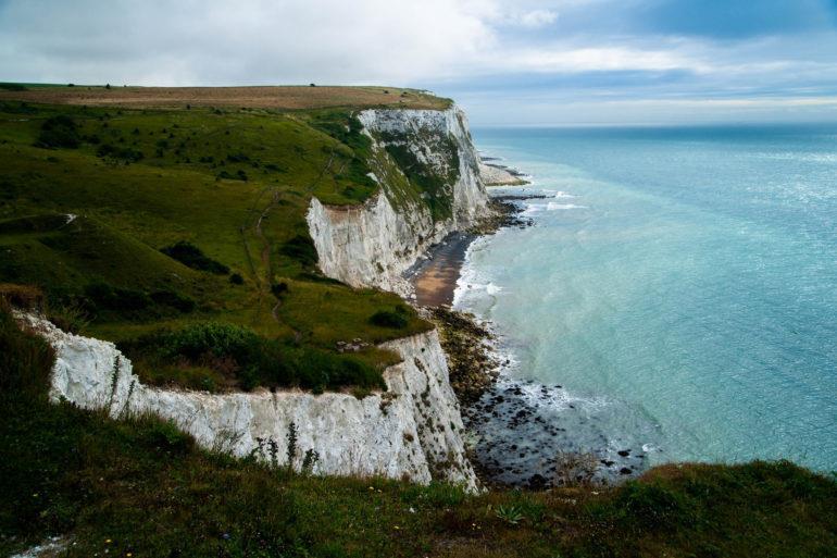 As encostas brancas de Dover, em Kent (Crédito Loki1973)