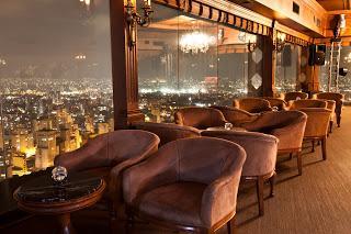 Vista noturna de São Paulo, do Piano Bar do Terraço Itália
