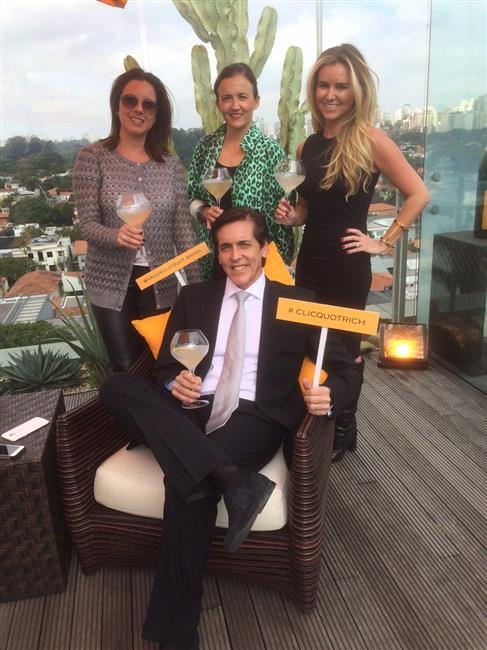 Sergio Degese, diretor geral da Möet Hennessy do Brasil, Karina Guarita, gerente de comunicação Veuve Clicquot Brasil, Chloé Stefani, diretora internacional de marketing da Veuve Clicquot e Gabriela Moreno Sanches, diretora de marketing e comunicação Veu